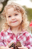 Cute baby girl outdoors Stock Photo