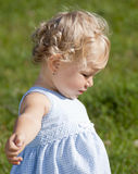 Cute baby girl in the par Royalty Free Stock Photography