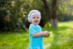 Cute baby girl in the park Stock Image