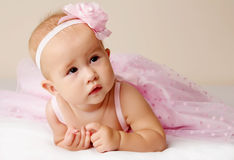 Cute baby girl. Royalty Free Stock Image