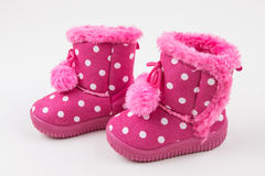 Cute baby girl pink shoes Royalty Free Stock Images