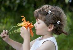 Cute Baby Girl Playing Outdoor Stock Photos