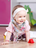 Cute baby girl portrait Royalty Free Stock Images