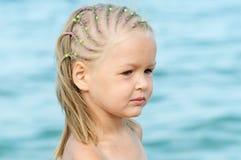 Cute Baby girl on sea Stock Photo