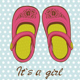 Cute baby girl shoes Royalty Free Stock Images