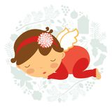 Cute baby girl sleeping Royalty Free Stock Photos