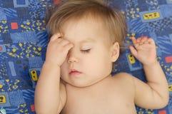Cute baby girl sleeping. Cute baby girl enjoying sleeping portrait face Royalty Free Stock Photos