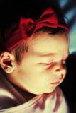 Cute baby girl sleeping royalty free stock photos