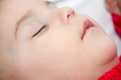 Cute baby girl sleeping Royalty Free Stock Photo
