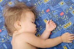 Cute baby girl sleeping. Cute baby girl sweet sleeping portrait face Stock Photo