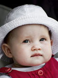 Cute baby girl smiles Stock Images