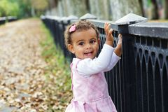 Cute baby girl smiling Royalty Free Stock Photos