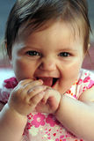 Cute baby girl smiling Stock Images