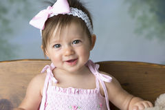 Cute Baby Girl Smiling Stock Photography