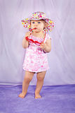 Fashion baby girl model Stock Photography