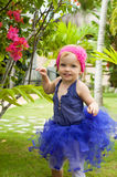 Cute baby-girl in tutu skirt Royalty Free Stock Images