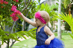 Cute baby-girl in tutu skirt Royalty Free Stock Photography