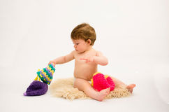 Cute baby girl wearing a hat Royalty Free Stock Photography