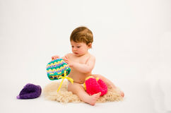 Cute baby girl wearing a hat Royalty Free Stock Image