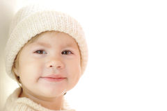 Cute baby girl wearing warm clothes Royalty Free Stock Photography