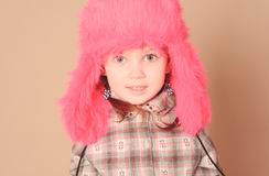 Cute baby girl wearing winter clothes Royalty Free Stock Image