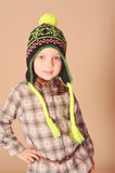 Cute baby girl in winter clothes Stock Photography