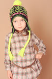 Cute baby girl in winter clothes Stock Image