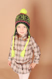Cute baby girl in winter clothes Stock Photos