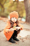 Cute baby girl in winter clothes Royalty Free Stock Images