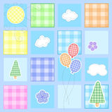 Cute baby greeting card Royalty Free Stock Photos