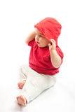 Cute baby with hat Stock Image