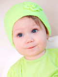 Cute baby in hat Royalty Free Stock Photos