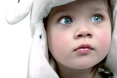 Cute baby in hat Stock Images