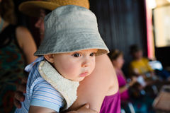 Cute baby with hat Stock Images