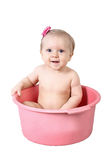 Cute baby having bath Royalty Free Stock Photos