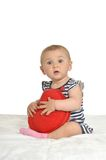 Cute baby heart pillow Stock Images