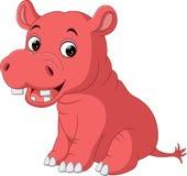 Cute baby hippo Cartoon. Illustration of cute baby hippo Cartoon Stock Image
