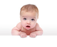 Cute Baby Holding Sign Royalty Free Stock Images