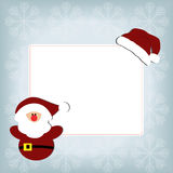 Cute baby holiday Christmas square frame on a blue background Royalty Free Stock Photo