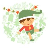 Cute baby illustration Stock Image