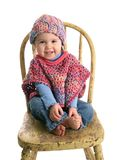 Cute Baby In Handmade Clothing Royalty Free Stock Photo