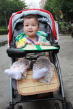 Cute Baby In The Stroller Royalty Free Stock Photo