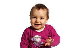 Cute baby. Isolated Royalty Free Stock Photos