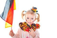 Baby cheers for the german soccer team royalty free stock photos