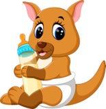 Cute baby kangaroo cartoon Stock Photo