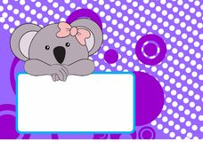 Cute baby koala girl background Royalty Free Stock Photos