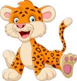Cute baby leopard cartoon Stock Photo