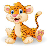 Cute baby leopard cartoon Stock Image