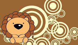 Cute baby lion background Stock Photos