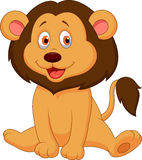 Cute baby lion cartoon Stock Photography